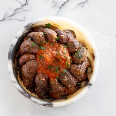 You should try the chef mezze's version of stuffed eggplant